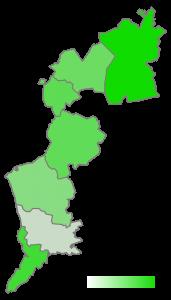 Anteil der als korrekt bewerteten Einsätze an den bewerteten Einsätzen je Bezirk