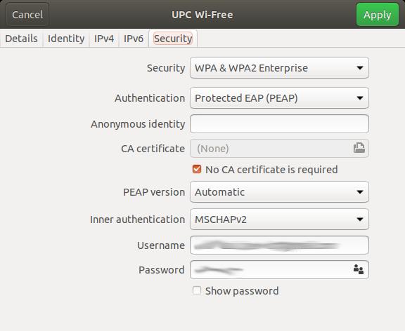 UPC Wi-Free mit Ubuntu